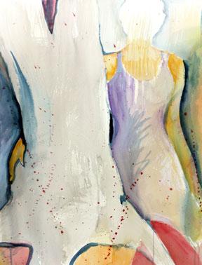 """Kortlek"" akvarell av Anita Tingskull"