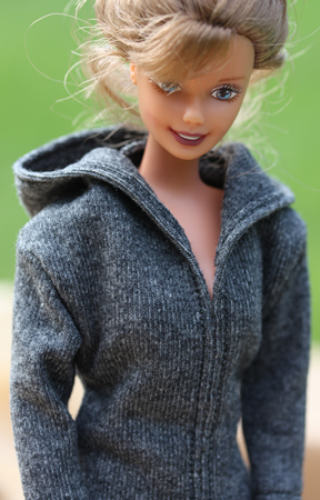 Barbiemönster jacka med huva