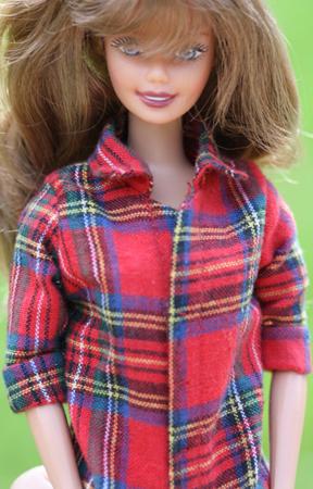 Barbiemönster fritidsskjorta