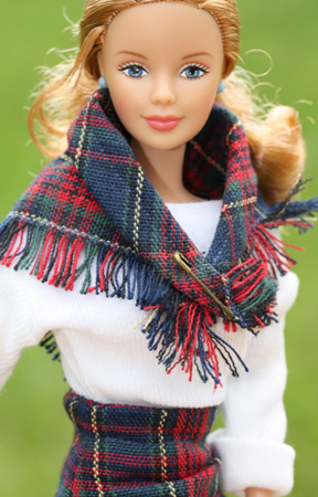 Barbiemönster klassisk rak kjol