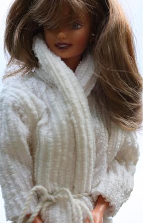 Barbiemönster morgonrock