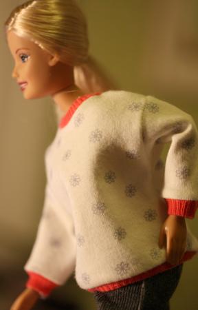 Barbiemönster collegetröja