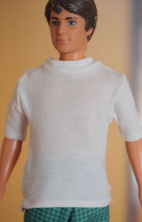 7012 mönster T-shirt till Ken