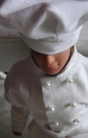 Barbie – mönster Ken kockkläder I