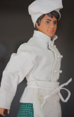 Barbie – mönster Ken kockkläder II