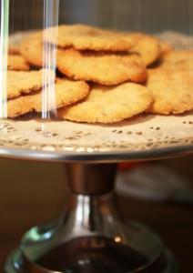 Kaffe och frasiga lavendelflarn