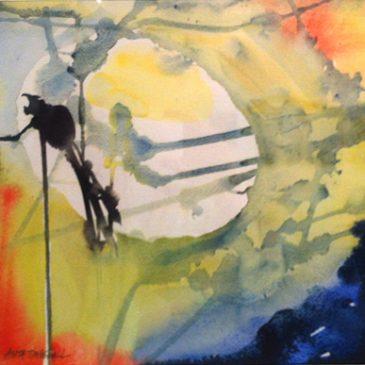 Färgglada akvareller