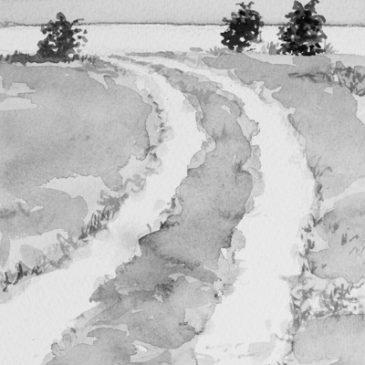 """Akvareller till """"På stort Alvar"""" – en novellsamling av Johan Theorin"""