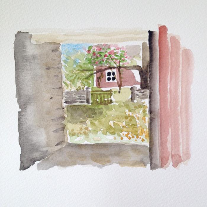 Akvarellmåleri från Södviks bygata - kurs hos Anita Tingskull