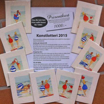 Konstlotteri i Anita Tingskulls ateljé 2015