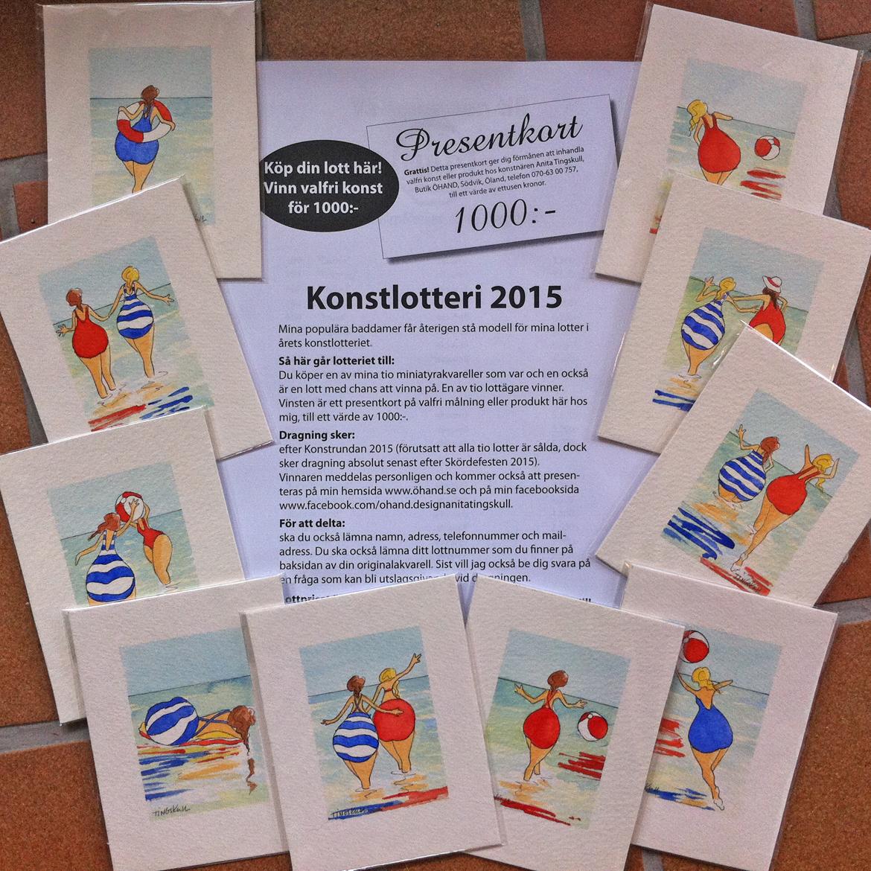 Konstlotteri 2015 hos Anita Tingskull