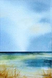 """Strand"" - akvarell av Anita Tingskull"
