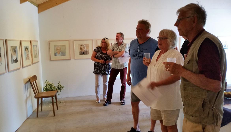 """Vernissage hos Anita Tingskull - """"Original och andra personligheter"""" akvarell"""