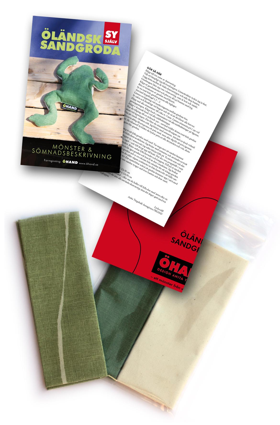 Sy din egen groda - mönster och tyg i smart förpackning!