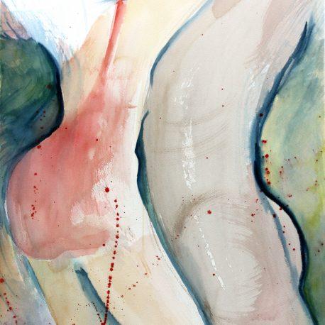 """""""Nära"""" akvarell av Anita Tingskull"""